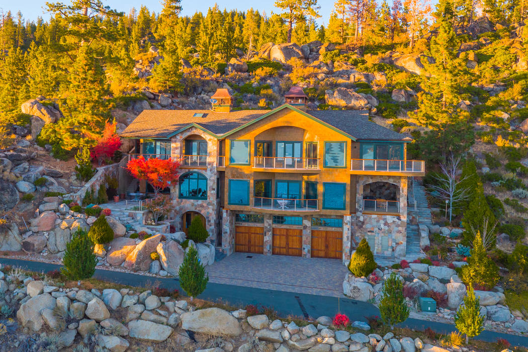"The 6,383-square-foot home, called the ""Spirit of the Lake,"" in Tahoe Glenbrook sits on three-quarters of an acre. (Oliver Luxury Real Estate)"