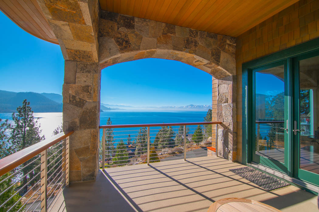 The patio over looks Lake Tahoe. (Oliver Luxury Real Estate)