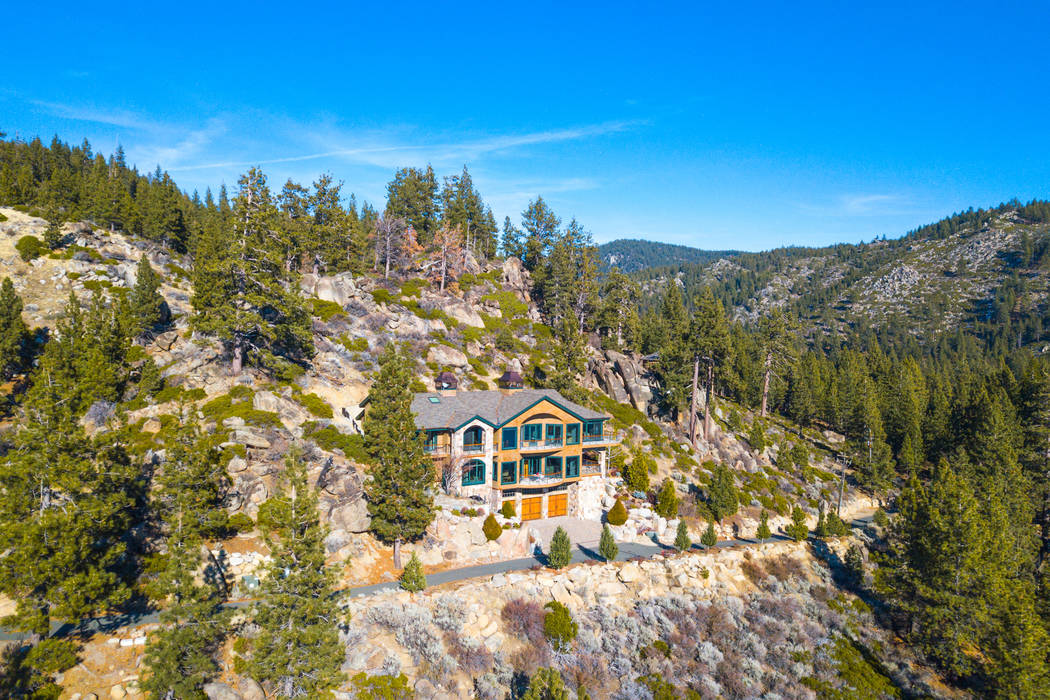 """Spirit of the Lake"" in Tahoe Glenbrook has mountain and lake views.( Oliver Luxury Real Estate)"