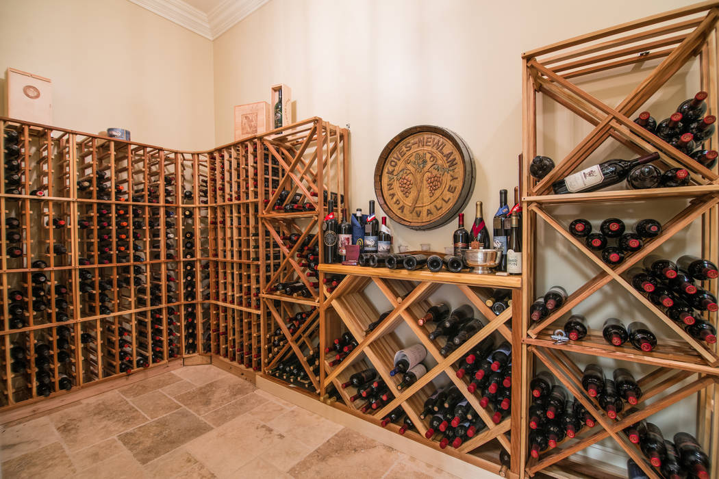 Oliver Luxury Real Estate The home has a wine cellar.