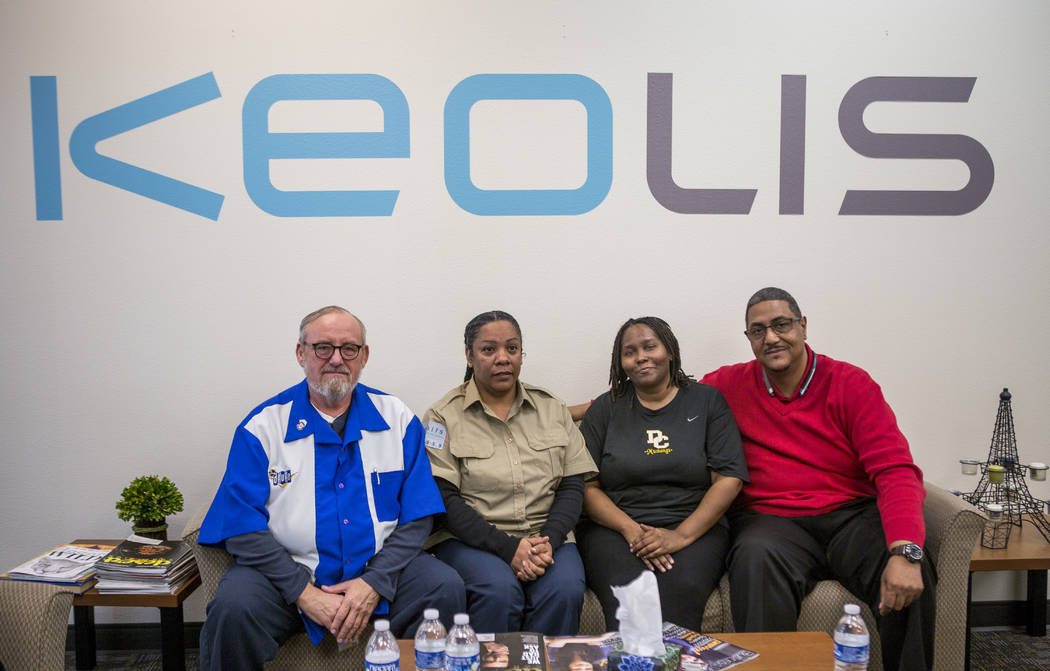 Bus drivers, from left, Richard Kuna, Shiree Anderson, Natascha Brooks, and Antonio McLandau talked about their experiences during the Oct. 1 shooting at the Regional Transportation Commission Sun ...