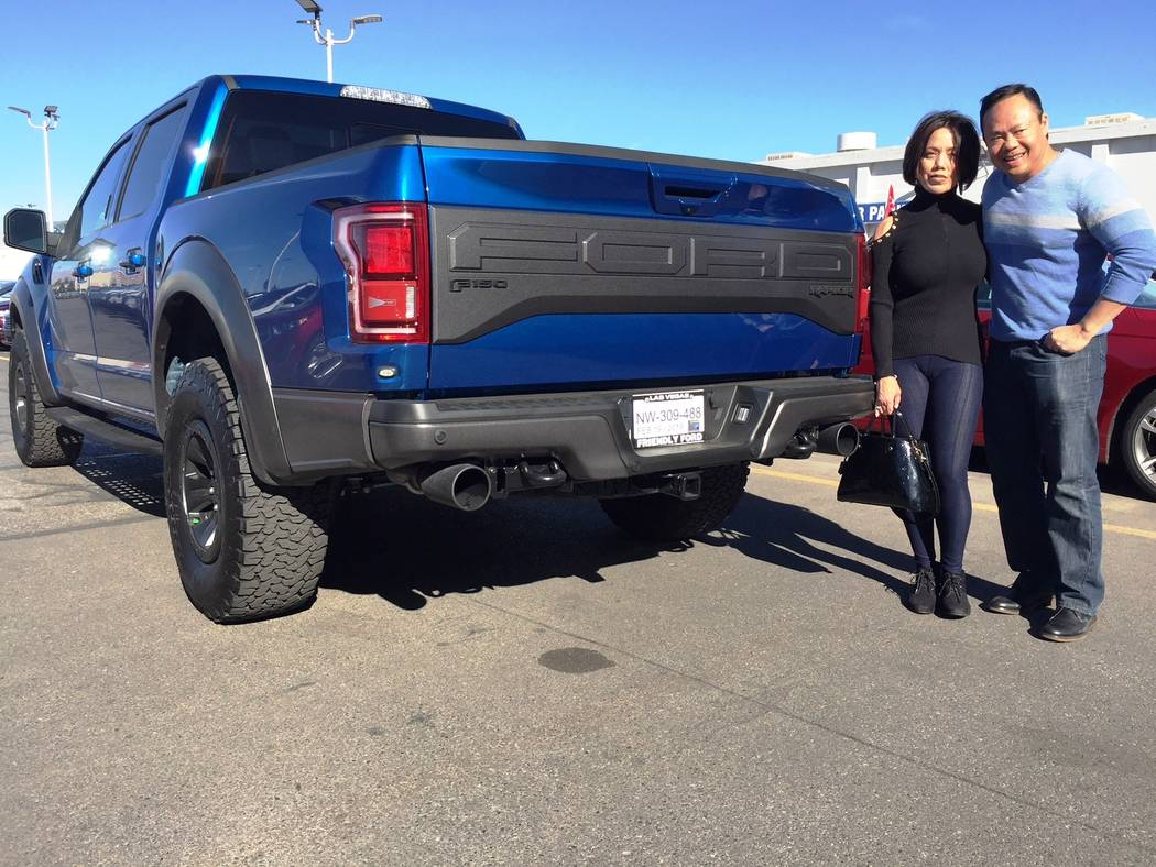 Friendly ford marenda and ron mariano are seen with their 2018 ford f 150 raptor
