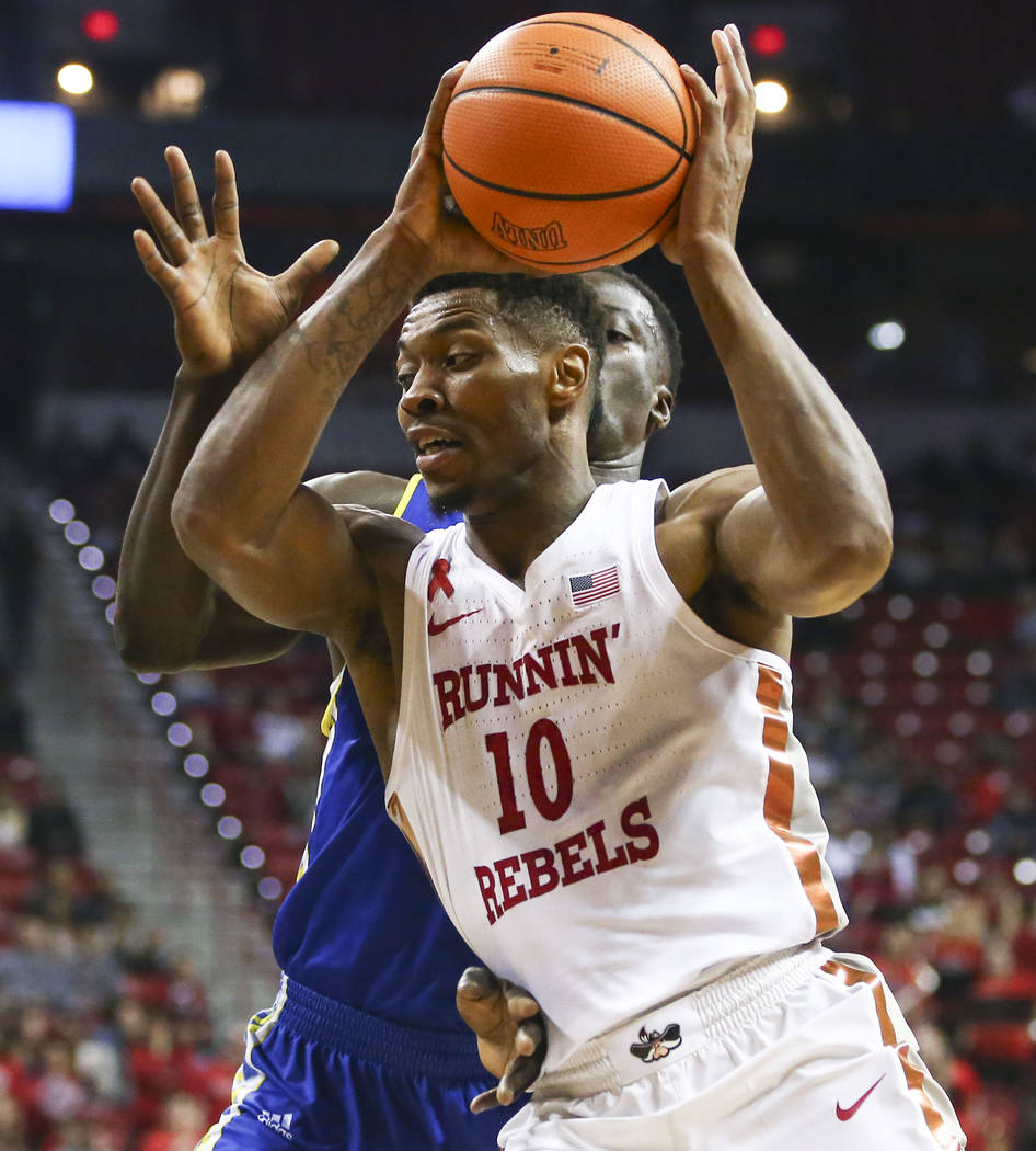 San Jose State Spartans center Oumar Barry (13) during a basketball game at the Thomas & Mack Center in Las Vegas on Wednesday, Jan. 31, 2018. Chase Stevens Las Vegas Review-Journal @csstevens ...