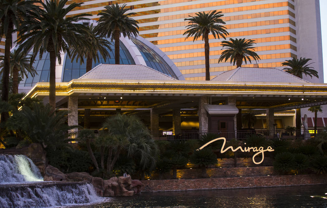 The porte-cochere at The Mirage in Las Vegas on Saturday, Feb. 3, 2018. Chase Stevens Las Vegas Review-Journal @csstevensphoto