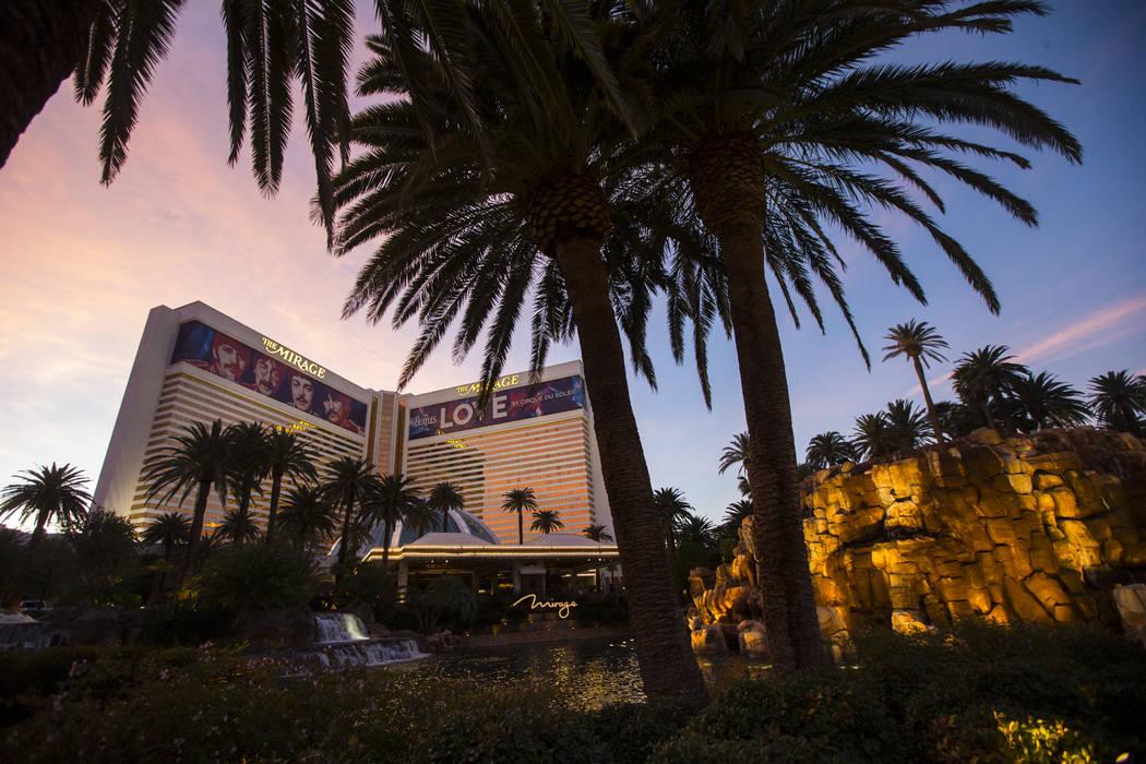 The Mirage in Las Vegas on Saturday, Feb. 3, 2018. Chase Stevens Las Vegas Review-Journal @csstevensphoto