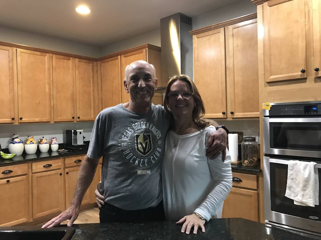 Sharon and John Pauli in their home in Las Vegas Friday, Feb. 2, 2018. (Madelyn Reese/Las-Vegas Review Journal) @MadelynGReese