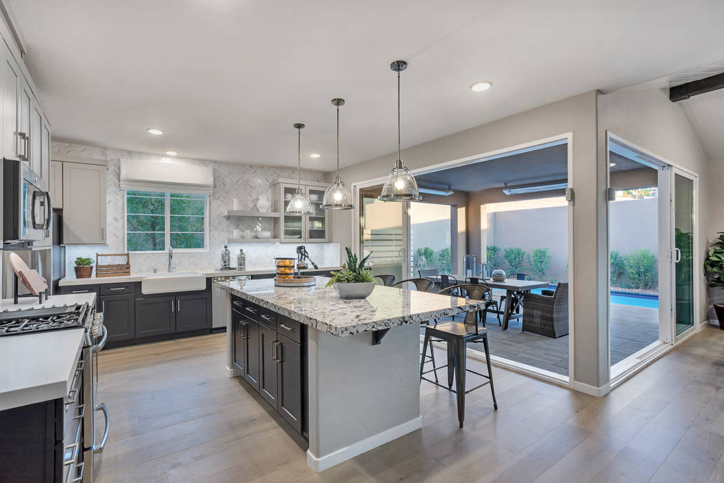 This kitchen in Pardee Homes' Pivot Plan Four model home is an example of upgraded residences offered in the builder's Time For Modern sales event. (Pardee Homes)