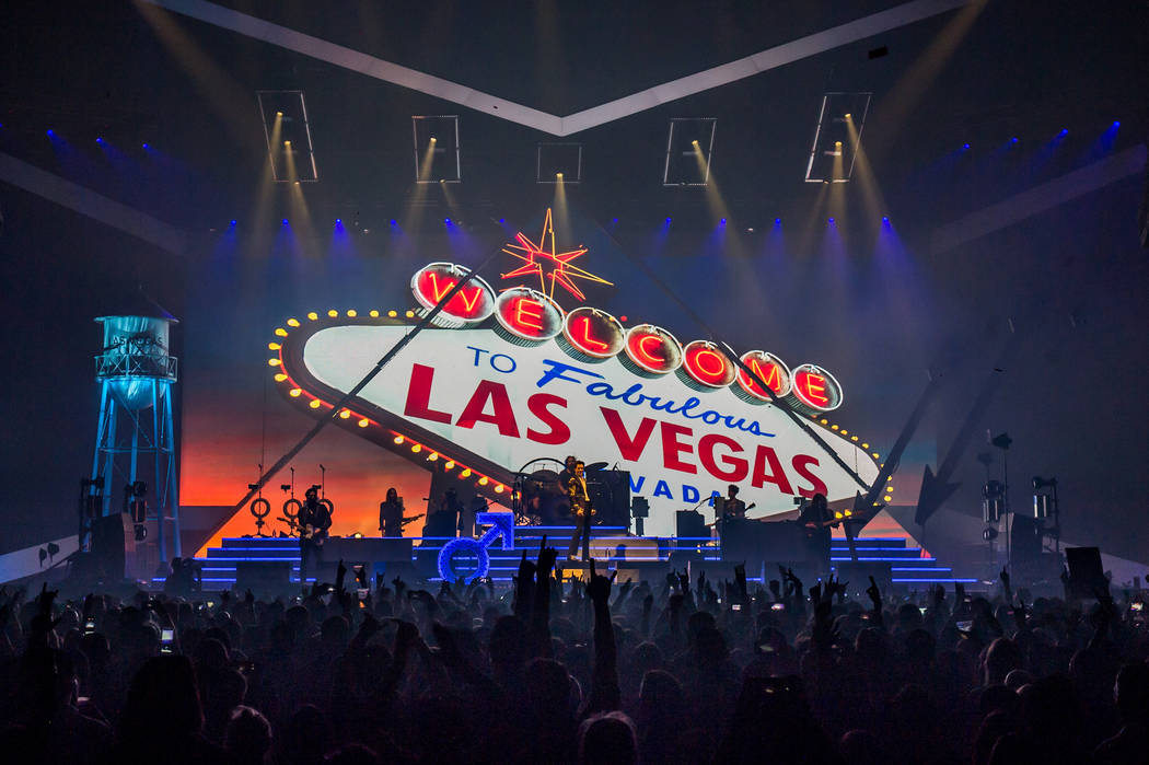 The Killers perform Saturday, Feb. 3, 2018, at the MGM Grand Garden. (Rob Loud)