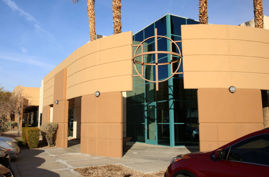 An industrial building at 420 Pilot Road photographed on Thursday, Feb. 1, 2018, in Las Vegas. BKM Capital Partners bought a dozen industrial buildings near McCarran International Airport for $92  ...