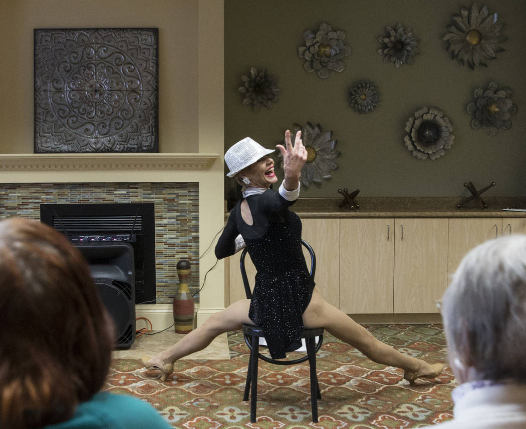 """Troy Stern performs the dance routine """"Burlesque"""" during an event hosted by the Ms. Senior Nevada organization at The Bridge at Paradise Valley on Tuesday, January 30, 2018, in L ..."""