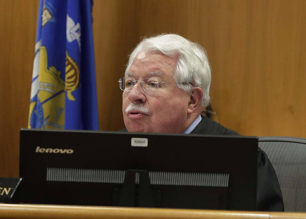 Waukesha County Circuit Judge Michael Bohren, begins the sentencing phase in the trial of Morgan Geyser, Thursday, Feb. 1, 2018 in Waukesha, Wis.   Geyser is one of two girls who tried to kill a c ...