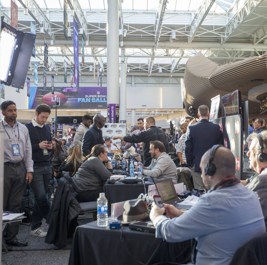 Super Bowl LII's radio row at the Mall of America in Bloomington, Minn., Thursday, Feb. 1, 2018. Heidi Fang Las Vegas Review-Journal @HeidiFang