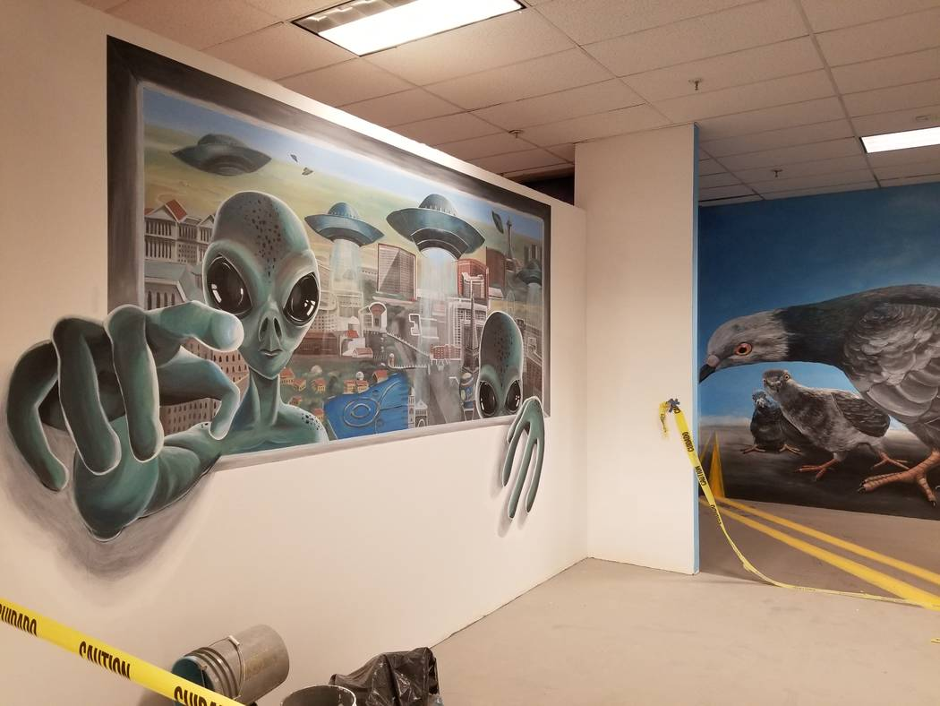 A new entertainment complex at Boulevard Mall will have about 60 murals that appear 3-D if photographed from a certain angle. The complex will also house escape rooms and archery tag. WADE TYLER M ...