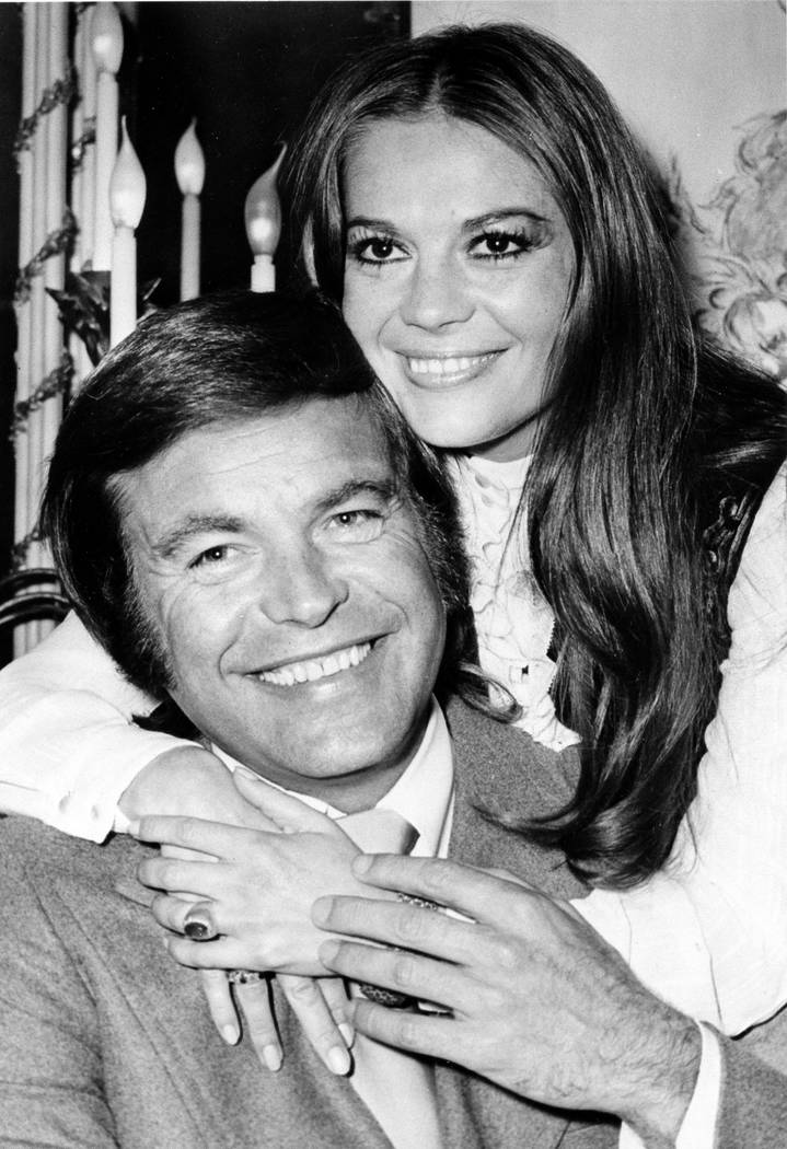 "In this April 23, 1972 file photo, actor Robert Wagner and his former wife, actress Natalie Wood, pose at the Dorchester Hotel in London, England. Investigators are now calling Wagner a ""person of ..."