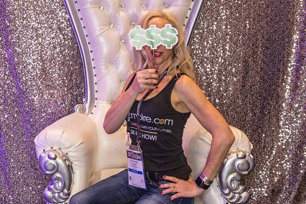 Michelle Lovejoy at the AVN Show at the Hard Rock Hotel in Las Vegas on Jan. 26, 2018. Lovejoy is a sex phone operator and her clients don't know what she looks like. (Todd Prince/Review-Journal)