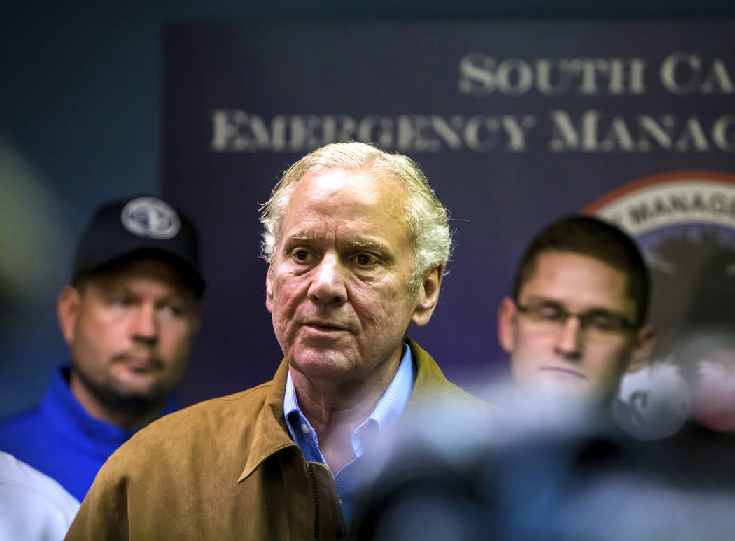 South Carolina Governor Henry McMaster Speaks At A Press Conference  Following A Crash Between An Amtrak