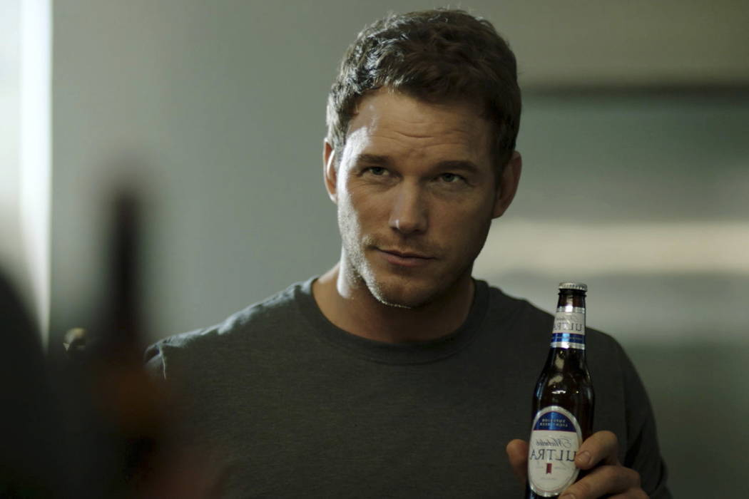 """This image released by Anheuser-Busch shows actor Chris Pratt in a scene from a Michelob Ultra commercial. Pratt, the star of the """"Jurassic World"""" and """"Guardians of the  ..."""