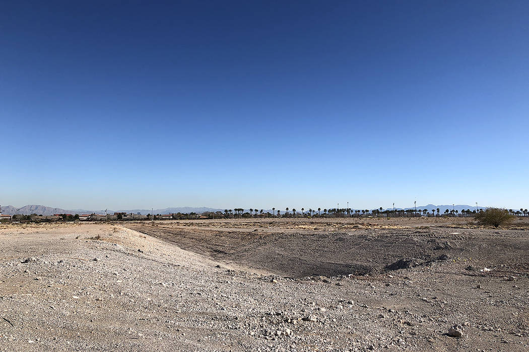 The plot of land where the 51s are scheduled to break ground on the new Las Vegas Stadium in Summerlin. Photo by Betsy Helfand.