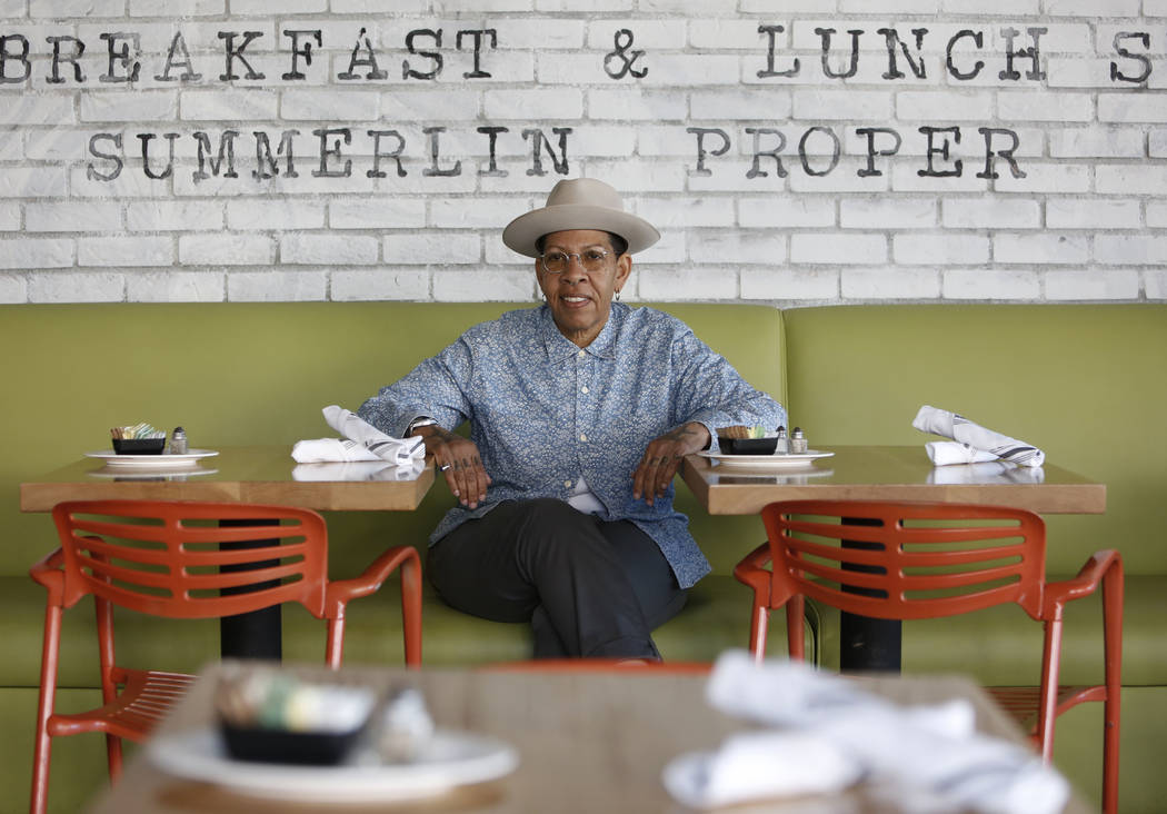 Chef Natalie Young poses for photo at her Summerlin restaurant, Eat, on Wednesday, Feb. 7, 2018, in Las Vegas. (Bizuayehu Tesfaye/Las Vegas Review-Journal) @bizutesfaye