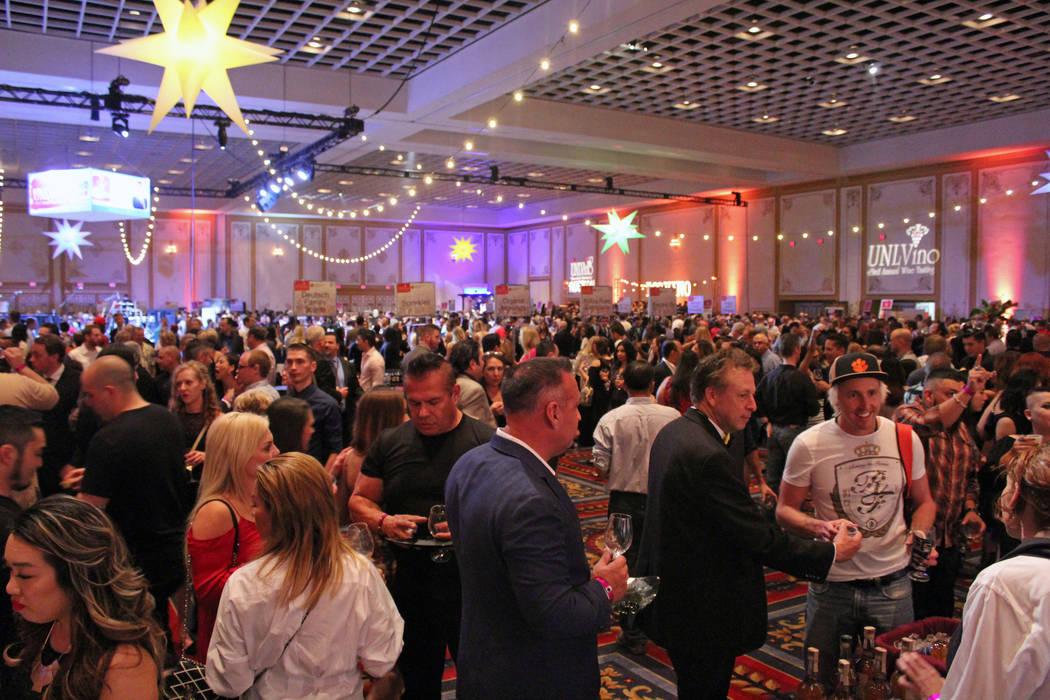 UNLVino hosts the 43rd annual event at the Paris hotel-casino, Saturday, April 1, 2017. (Gabriella Benavidez/Las Vegas Review-Journal) @gabbydeebee