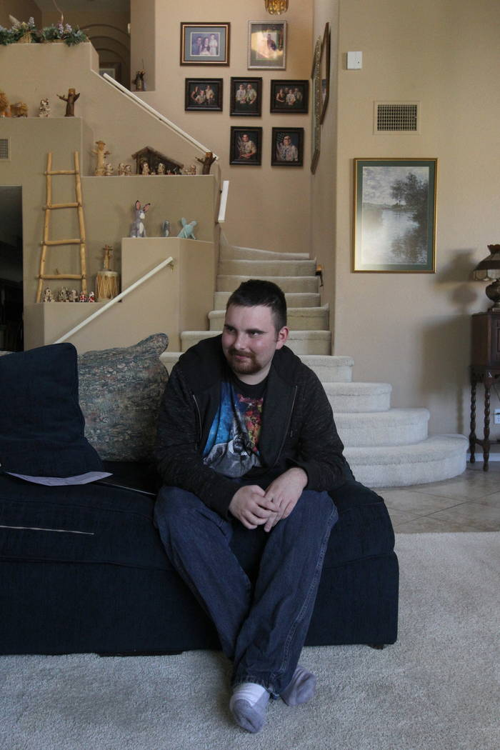 Nick Touma, 22, a 2013 Northwest Career and Technical Academy graduate, at his mother's Las Vegas home Wednesday, Feb. 7, 2018. Nick and others will receive a retroactive diploma from the Clark Co ...