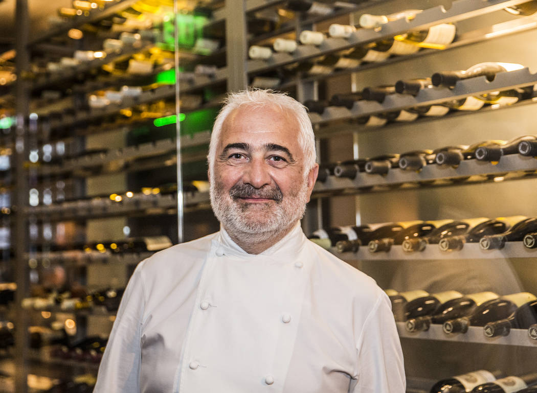 Michelin-starred Chef Guy Savoy during his master series An Epicurean Affair with Guy Savoy at Vegas Uncork'd on Thursday, April 27, 2017, at Restaurant Guy Savoy, at Caesar's Palace hotel-casino, ...