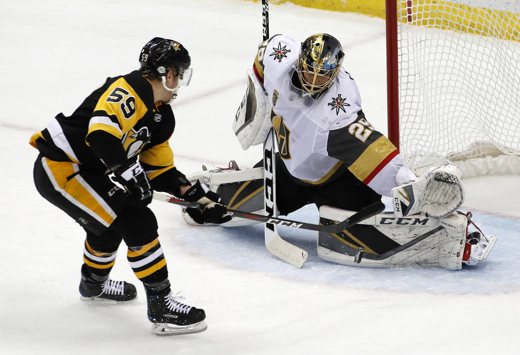 Fleury's return to Pittsburgh ends in 5-4 loss – Las Vegas ...