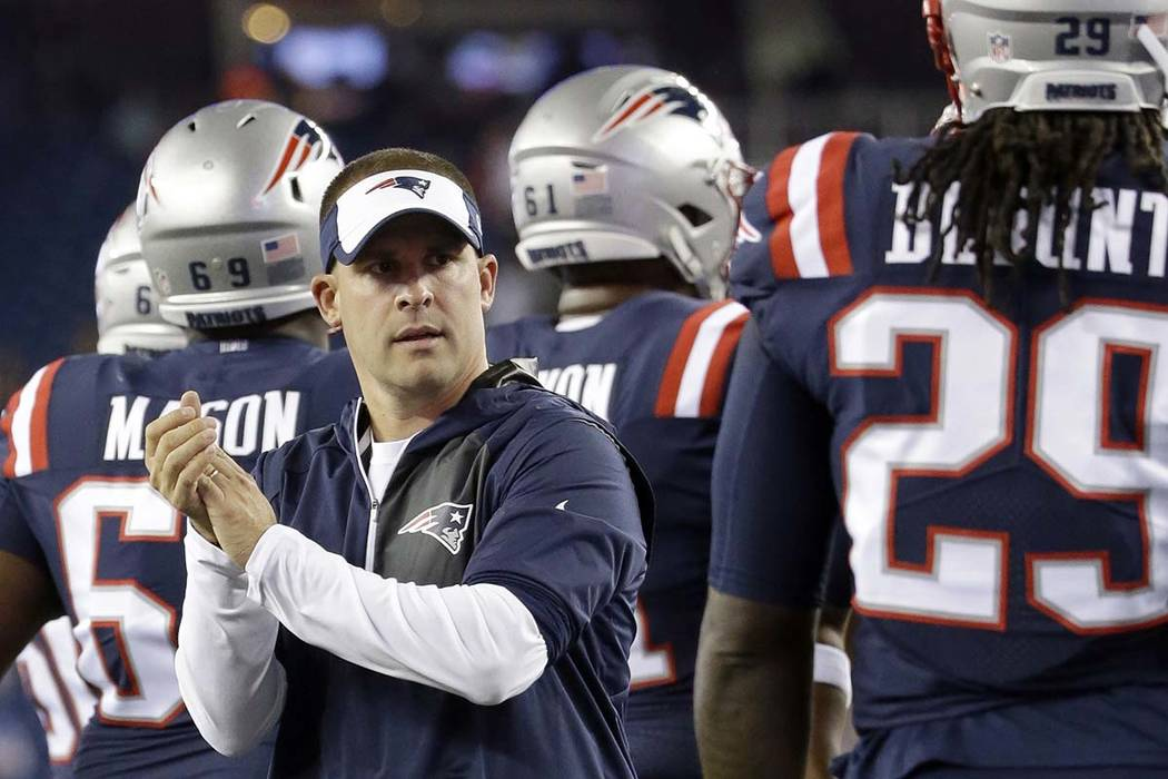 Indianapolis announced the hiring of New England Patriots offensive coordinator Josh McDaniels as the new head coach of the Colts via Twitter on Tuesday morning.  (Elise Amendola/AP)