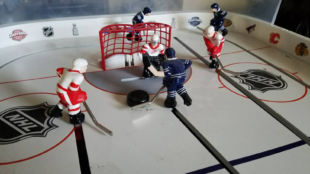 It's Maple Leafs vs. Red Wings as Vegas Golden Knights table hockey game players won't be available until the 2018 season. (Ron Kantowski)