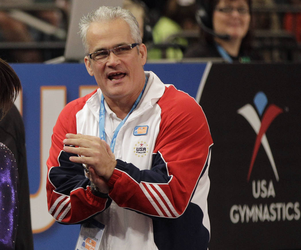 Gymnastics coach John Geddert is seen at the American Cup gymnastics meet at Madison Square Garden in New York, March 3, 2012. Geddert, a former U.S. women's gymnastics national team coach, is fac ...