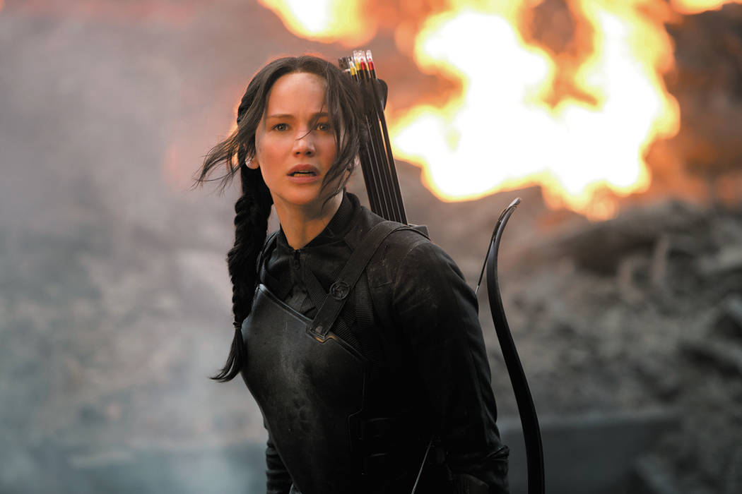 "Jennifer Lawrence stars as Katniss Everdeen in ""The Hunger Games: Mockingjay Part 1."" (Lionsgate)"