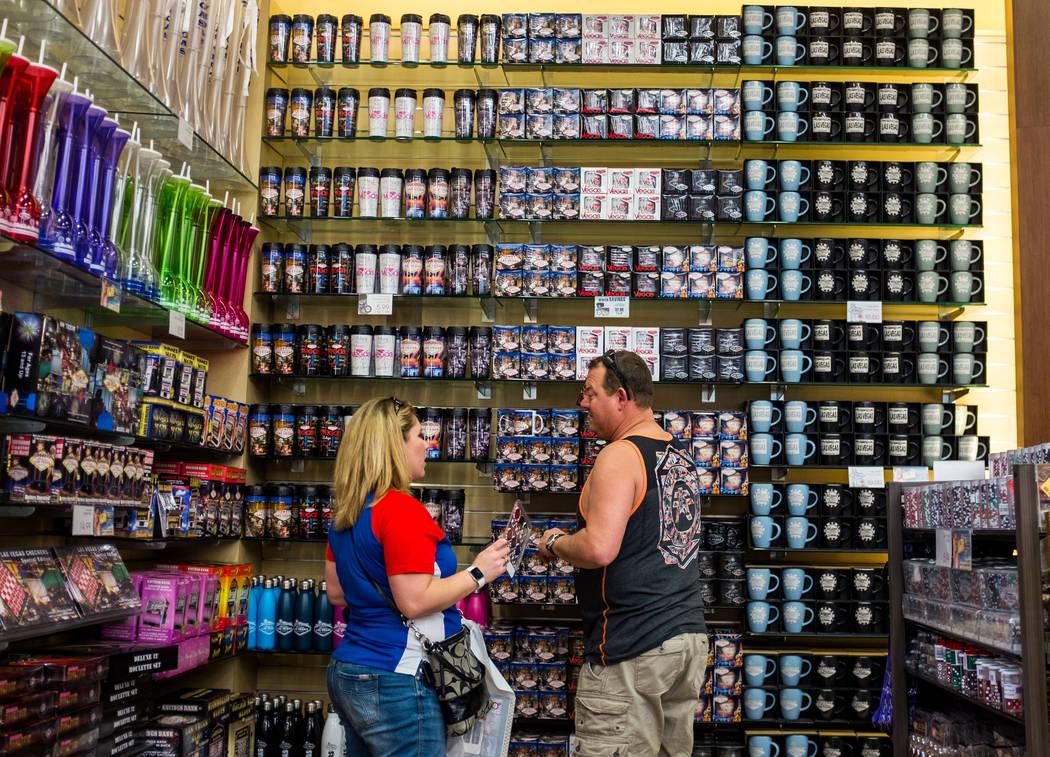 Strip visitors browse Las Vegas mugs in ABC Stores on Las Vegas Boulevard in Las Vegas on Wednesday, Feb. 7, 2018.  Patrick Connolly Las Vegas Review-Journal @PConnPie