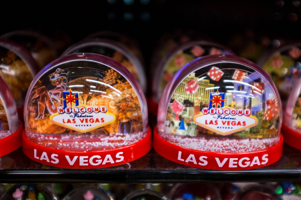 Las Vegas snow globes in ABC Stores on the Strip in Las Vegas on Wednesday, Feb. 7, 2018.  Patrick Connolly Las Vegas Review-Journal @PConnPie