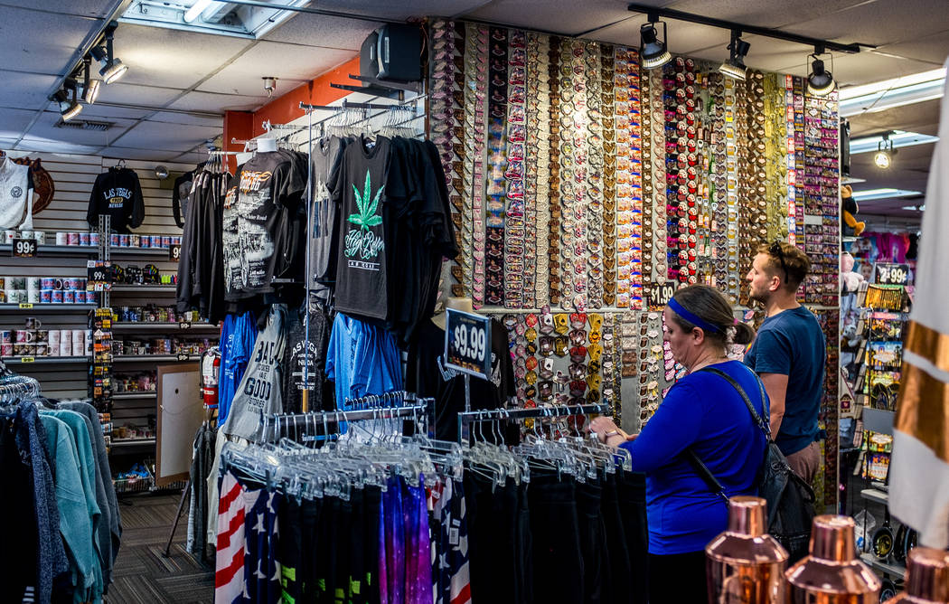 Strip visitors browse a selection of Las Vegas magnets in a shop on Las Vegas Boulevard on Wednesday, Feb. 7, 2018.  Patrick Connolly Las Vegas Review-Journal @PConnPie
