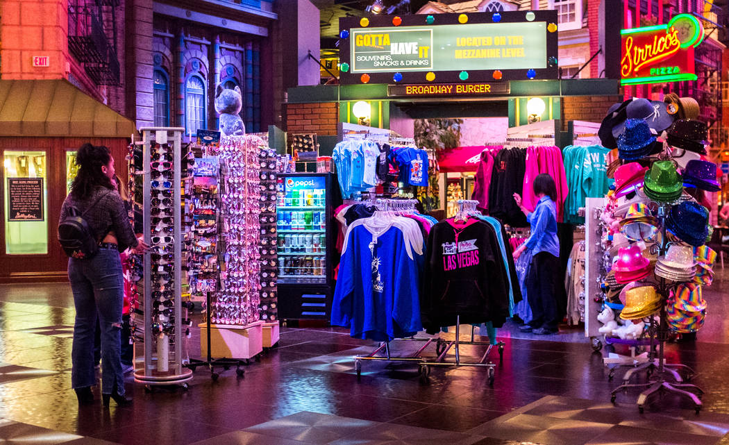 New York-New York visitors browse souvenirs in the hotel-casino in Las Vegas on Wednesday, Feb. 7, 2018.  Patrick Connolly Las Vegas Review-Journal @PConnPie