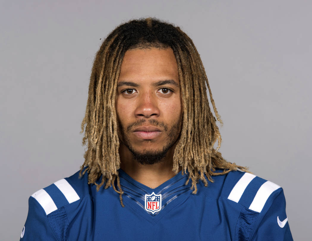Indianapolis Colts football player Edwin Jackson, June 13, 2017.  Jackson, 26, was one of two men killed when a suspected drunken driver struck them as they stood outside their car along a highway ...