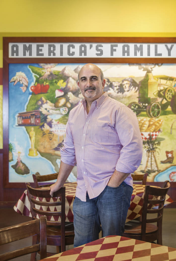 Metro Pizza co-founder Sam Facchini is the new chairman of the National Restaurant Association Education Foundation. Photo taken on Wednesday, February 7, 2018, at Metro Pizza, in Las Vegas. Benja ...