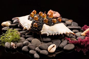 Maryland blue crab with Russian osetra caviar at Le Cirque at Bellagio (Courtesy)