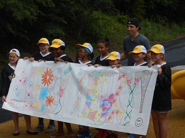 Former Penguins goaltender Marc-Andre Fleury and members of the Sto-Ken-Rox Boys and Girls Club in McKees Rock, Pa., are seen in this June 2017 photo at a groundbreaking ceremony. (Sto-Ken-Rox Boy ...