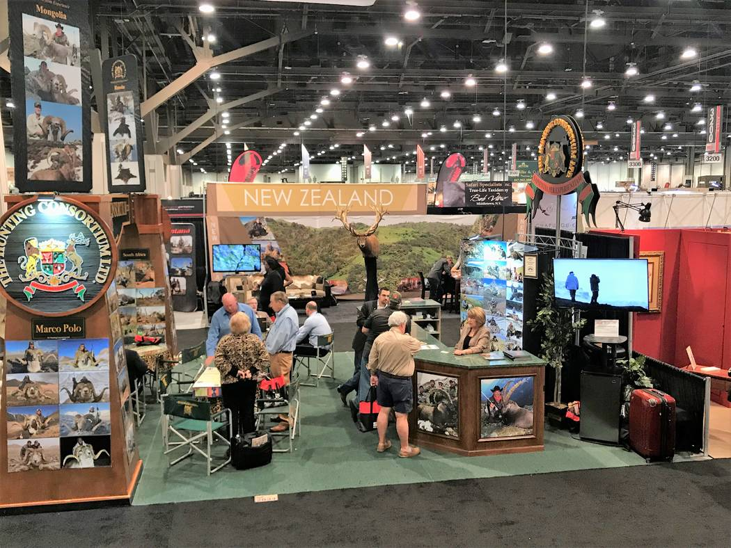 Outfitters from around the globe were in Las Vegas recently to show their wares at the safari Club International Hunters' Convention. Joining them were taxidermists, firearms dealers and others wi ...