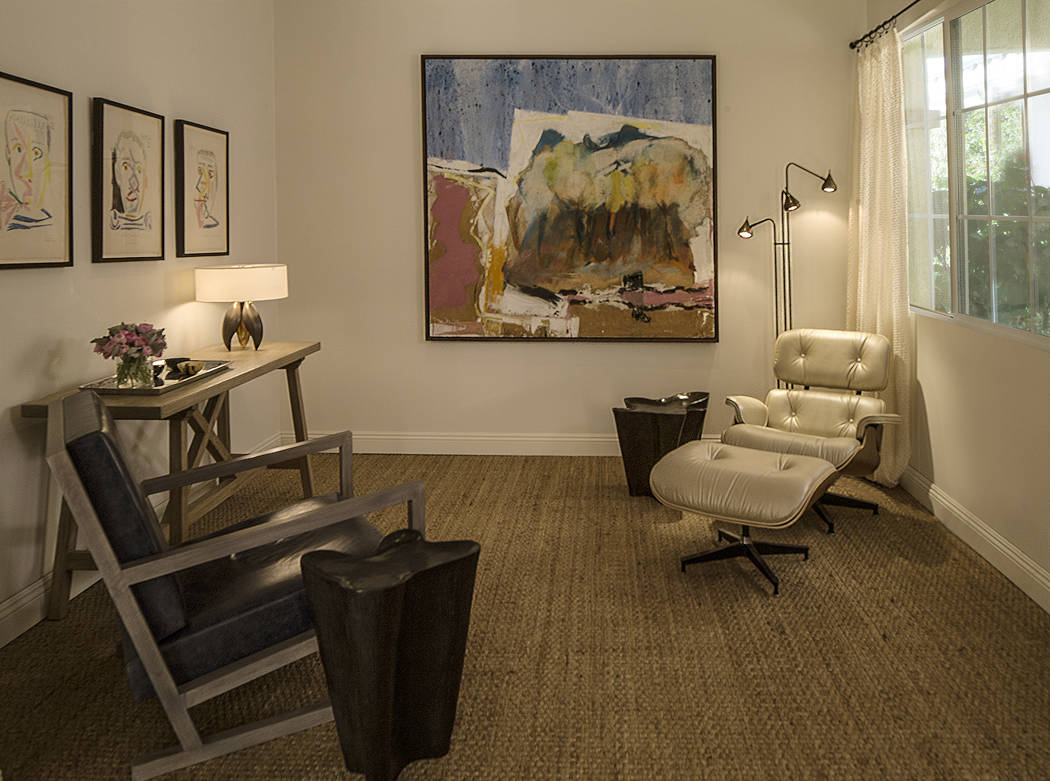 "Willetts Design & Associates These three Pablo Picasso lithographs from the Fumeur Series were conceived around August of 1964. Oddly enough, the other artwork in this room, ""Landscape (On the ..."