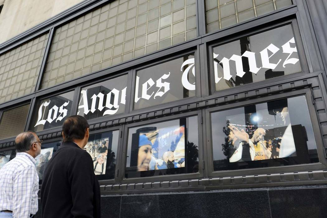 Tronc soars after finding a buyer for the Los Angeles Times (TRNC)