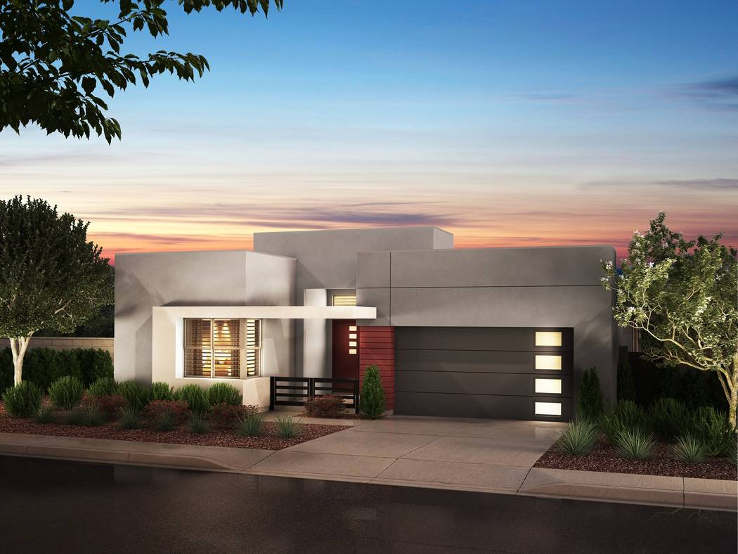 An April grand opening is planned for Pardee Homes' Terra Luna neighborhood in The Cliffs in Summerlin. Shown is a rendering of Terra Luna Plan 1-B. (Pardee Homes)