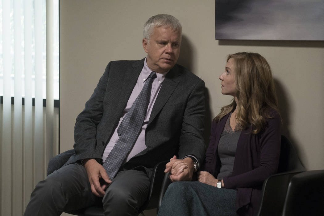 """Tim Robbins and Holly Hunter star in """"Here and Now."""" (Ali Paige Goldstein/HBO)"""