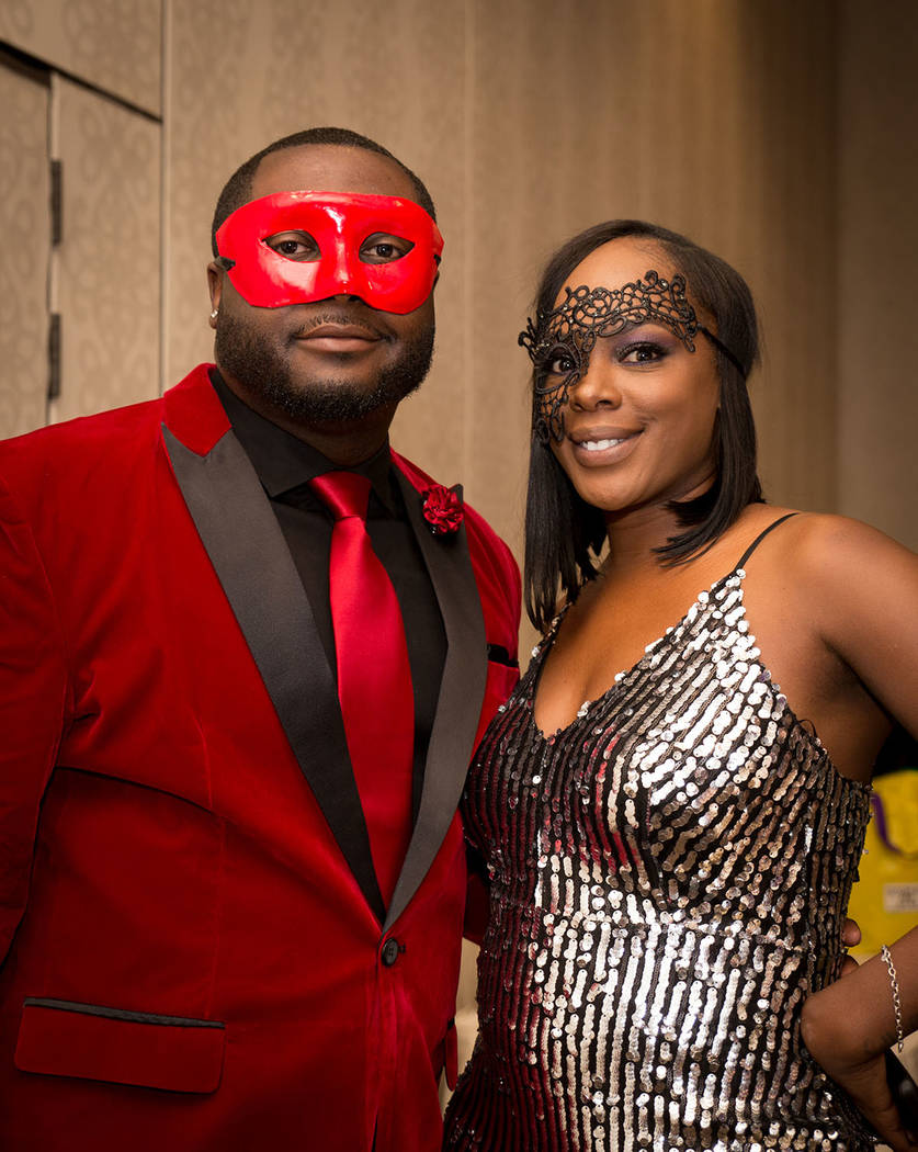 Jazza Marshall and Darius Toston at the Nevada Association of Real Estate Brokers Jan. 27 installation dinner at the Suncoast. (Tonya Harvey Las Vegas Business Press)