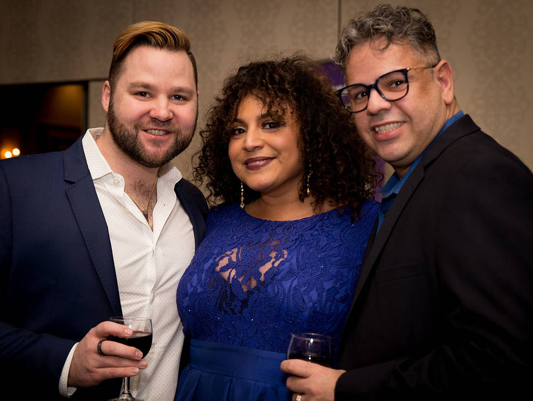 Will Jimenez-Wenz, Veronica Torres,  Julio A. Jimenez-Wenz at the Nevada Association of Real Estate Brokers Jan. 27 installation dinner at the Suncoast. (Tonya Harvey Las Vegas Business Press)