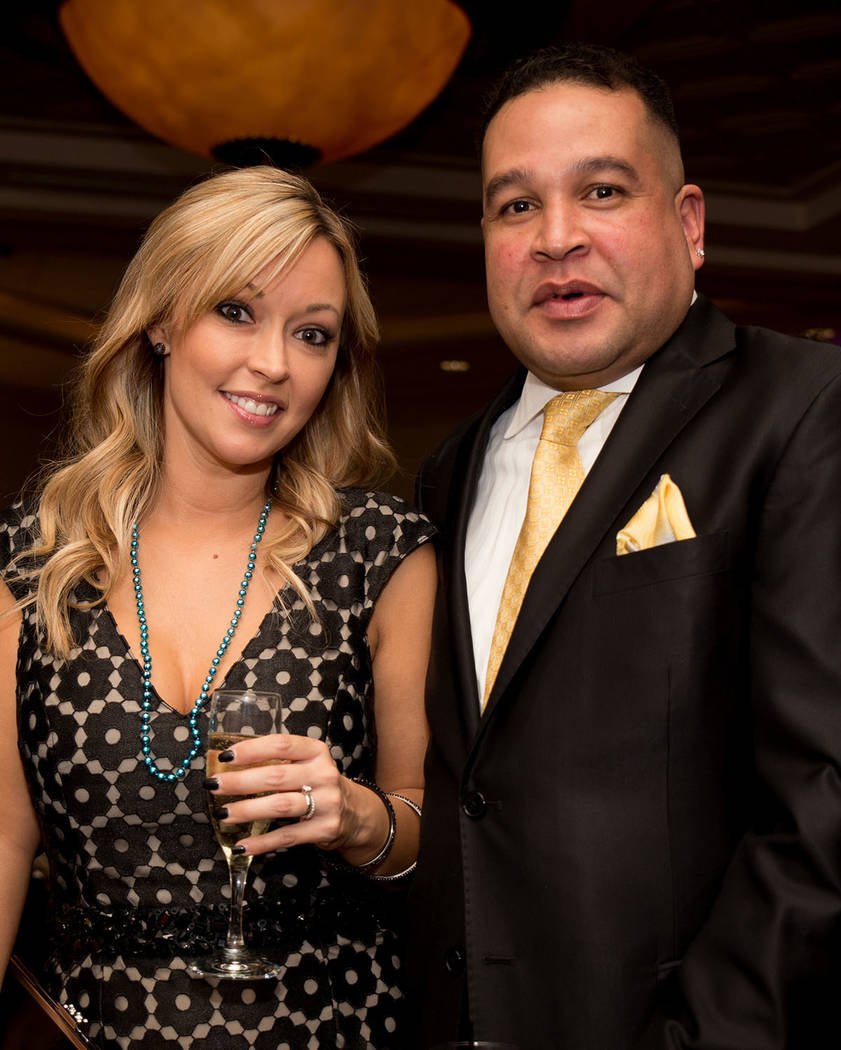 Tamika Evens and Brian Holland at the Nevada Association of Real Estate Brokers Jan. 27 installation dinner at the Suncoast. (Tonya Harvey Las Vegas Business Press)