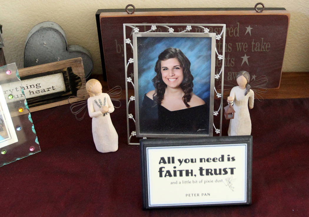 A photo of Jenna Libidinsky in the Las Vegas home of her parents Neil and Marla Libidinsky Friday, Feb. 9, 2018. The 24-year-old died from the flu this week. K.M. Cannon Las Vegas Review-Journal @ ...