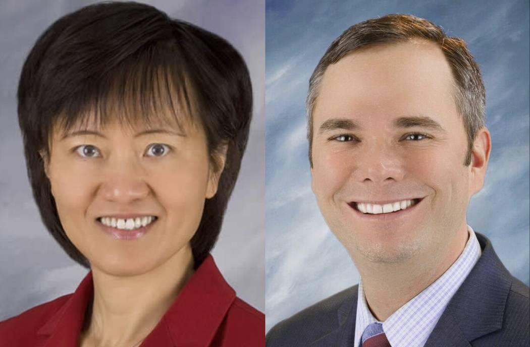 Dr. Qiong X. Liu and Ryann Juden (Courtesy City of North Las Vegas)