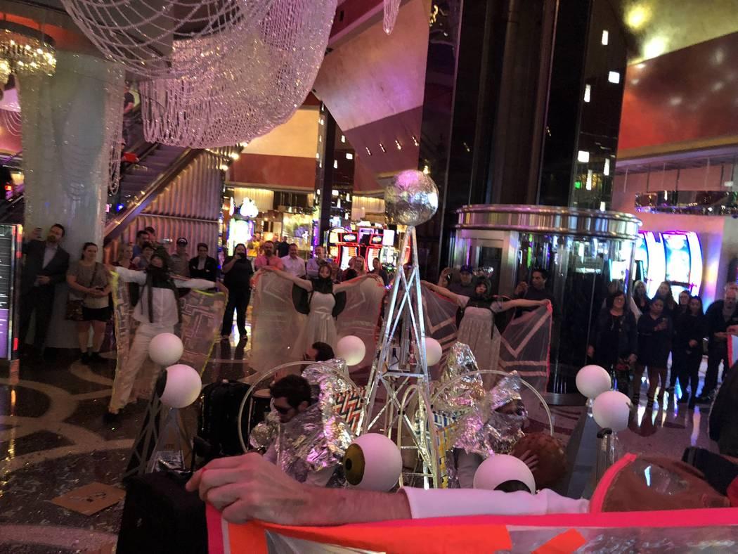 "A performance by the cast of ""Opium"" at the Cosmopolitan of Las Vegas on Thursday, Feb. 8, 2018. (John Katsilometes/Las Vegas Review-Journal). @JohnnyKats"